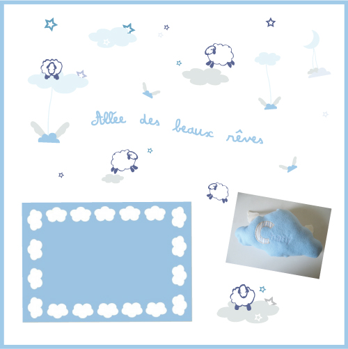 Deco b b mouton - Stickers mouton chambre bebe ...