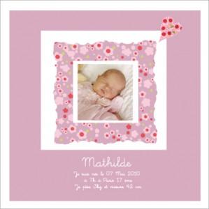 tableau photo de naissance Mathilde