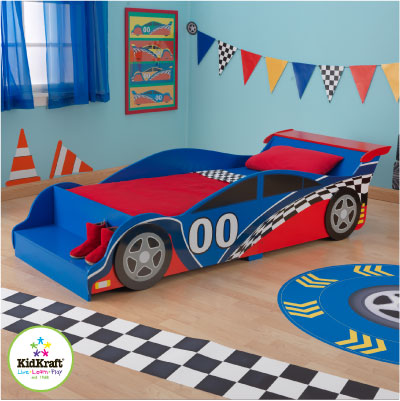 Lit original chambre enfant - Chambre garcon theme voiture ...